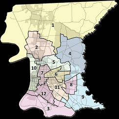 A map of East Baton Rouge Parish districts