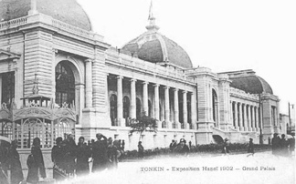 Grand Palais was built for the Hanoi Exhibition, as the city became the capital of French Indochina