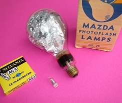 Flashbulbs have ranged in size from the diminutive AG-1 to the massive No. 75.