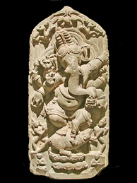 Dancing Ganesha sculpture from North Bengal, 11th century CE, Asian Art Museum of Berlin (Dahlem).