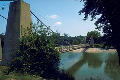 General Dean Suspension Bridge, Clinton County