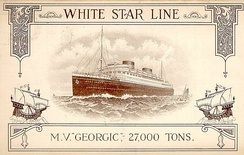 MV Georgic; the last ship to be built for the White Star Line before the merger.