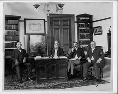 Executive council of the Provisional Government (left to right): James A. King, Sanford B. Dole, W. O. Smith and P. C. Jones