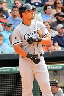 Jose Abreu on deck circle at Minute Maid 2014.jpg