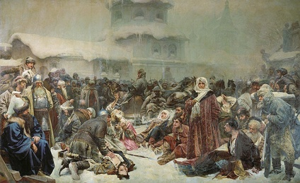 Martha the Mayoress at the Destruction of the Novgorod veche, by Klavdiy Lebedev