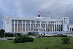 Mansudae Assembly Hall, seat of the Supreme People's Assembly, the North Korean parliament