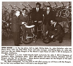 Open house for the Huffy Penguin on March 3, 1963