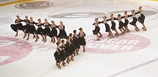 Team Marigold IceUnity during their free skate from the 2005 Finnish National Championship