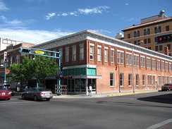 The McCanna–Hubbell Building, built in 1915, is one of downtown Albuquerque's many historic buildings