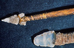 Hunting spear and knife, from Mesa Verde National Park