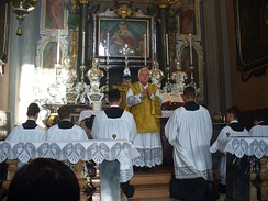 An Ambrosian Rite Mass being celebrated in the Church of the Nativity of the Blessed Virgin Mary, Legnano