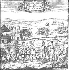 New Sweden – encounter between Swedish colonists and the natives of Delaware.