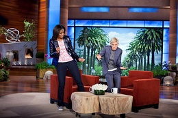Obama and Ellen DeGeneres dance on the second anniversary of Let's Move!.