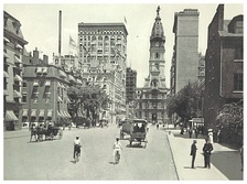 South Broad Street, looking towards City Hall (c. 1895)