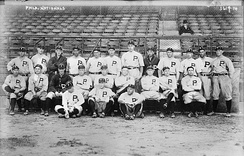 Philadelphia team photo taken on October 4, 1915.