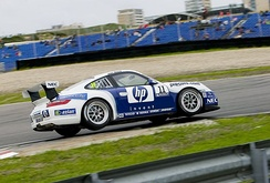 A Hewlett-Packard sponsored Porsche 997 GT3 Cup
