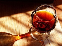 A glass of tawny Porto wine