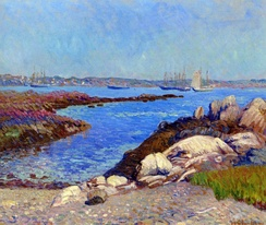 Portsmouth Harbor, New Hampshire by William James Glackens (1909)