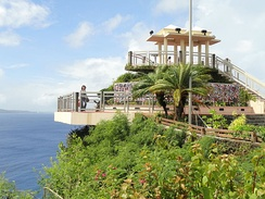 "Puntan Dos Amantes (""Two Lovers Point""), a National Natural Landmark,[36] well known for its romantic associations"