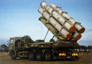 Block I coastal missile defense system truck, in service in the Danish Navy 1988–2003.