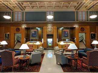 The Great Hall of Rush Rhees Library.