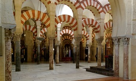 The Mosque–Cathedral of Córdoba.