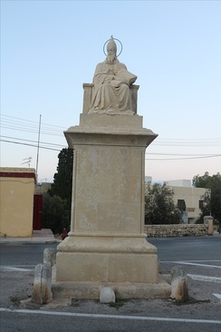 Statue of St. Gregory the Great, outside the grounds of St. Catherine's Old Church.
