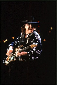 Texas blues guitarist Stevie Ray Vaughan