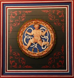 Putto on the ceiling of Stirling Castle.