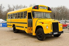 pre-1979 Superior school bus on International Loadstar chassis