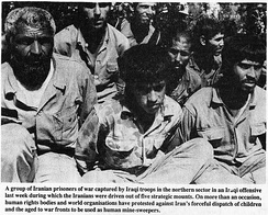 Iranian soldiers captured during Iraq's 1988 offensives