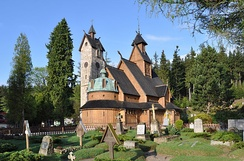 800-year old Vang Stave Church in Karpacz