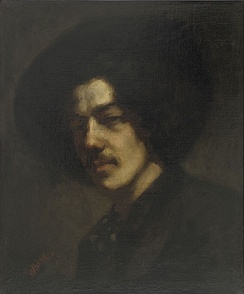 Portrait of Whistler with Hat (1858), a self-portrait at the Freer Gallery of Art, Washington, D.C.