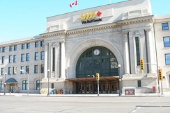 Union Station is the inter-city railway station for the city.