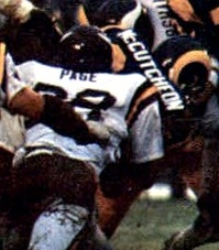 Page  tackling running back Lawrence McCutcheon in 1977