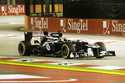Maldonado started on the front row for the second time at Singapore.