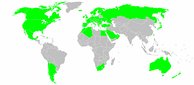 Alfa Romeo official dealers worldwide map.