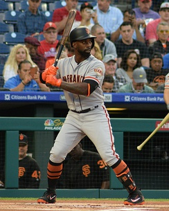 McCutchen with the Giants in 2018