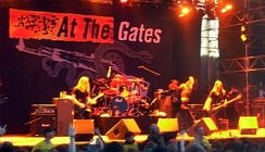 Melodic death metal band At the Gates performing in 2008.