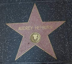 Audrey Hepburn's Star on Hollywood Walk of Fame.