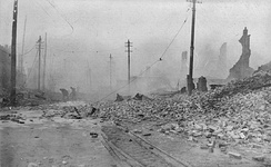 The Great Baltimore Fire of 1904, looking west from Pratt and Gay streets