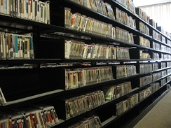 A portion of the thousands of CDs that can be borrowed from The New York Public Library for the Performing Arts