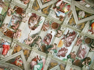 The Renaissance period was a golden age for Catholic art. Pictured: the Sistine Chapel ceiling painted by Michelangelo.