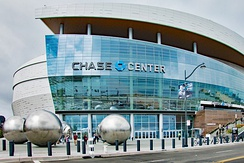 Chase Center, the newest arena in the NBA, opened in 2019. It is the home of the Golden State Warriors.