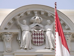 Monaco's flag and Coat of arms