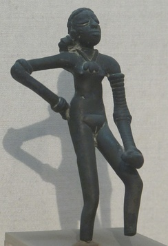 Dancing Girl sculpture from the Indus Valley Civilization (c. 4,500 years ago)