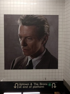 David Bowie exhibit at Broadway-Lafayette St. Station