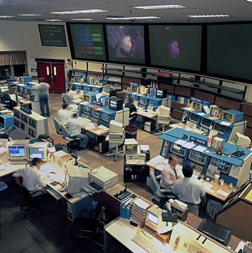 Deep Space Network Operations Center at JPL, Pasadena (California) in 1993.