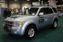 The Ford Escape Hybrid was the first hybrid electric vehicle with a flex-fuel engine capable of running on E85 fuel.