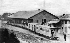 The Los Angeles & San Pedro Railroad was the first railroad in Los Angeles, photo ca.1880